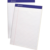 Ampad Perforated 50 Sheet Writing Pad, Legal/Wide Rule 12 Pk.