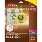 Avery Print To The Edge Round 2 1/2 in. Label 120 Pk.