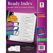 Avery Ready Index Customizable Table of Contents Letter Size 8 Tab Dividers