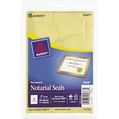 Avery Printable 2 in. Gold Foil Seals 44 Pk.