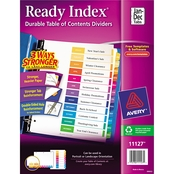 Avery Ready Index Customizable Table of Contents Letter Size 12 Tab Dividers