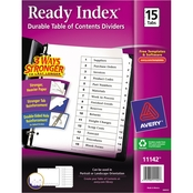 Avery Ready Index Customizable Table of Contents Letter Size 15 Tab Dividers