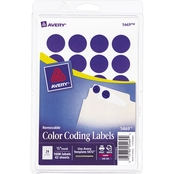 Avery Removable Color-Coding Labels, 3/4 In. Diameter, 1008 Pk.