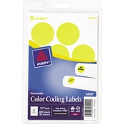 Avery Removable Color-Coding 1 1/4 In. Round Label 400 Pk.