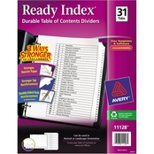 Avery Letter Size Ready Index Customizable Table of Contents 31 Tab