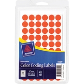 Avery Removable 1/2 In. Diameter Round Color-Coding Labels 840 Pk.