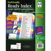Avery Ready Index Customizable Table of Contents A to Z Multicolor Dividers