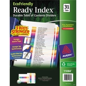 Avery Ready Index Customizable Table of Contents 31 Tab Multicolor Dividers