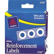 Avery Binder Hole Reinforcements in Dispenser, 1000 Pk.