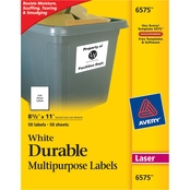 Avery Permanent Durable ID Labels with TrueBlock Technology, 50 Pk.