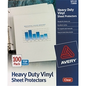 Avery Heavy Duty Vinyl Sheet Protector, 100 Box