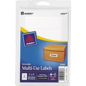 Avery Removable Multi-Use 1 in. x 3 in. Labels, 250 Pk.