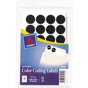Avery Handwrite Only Removable 3/4 In. Round Color Coding Labels 1008 Pk.