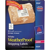 Avery Weatherproof Durable 3 1/3 x 4Mailing Label 300 Pk.