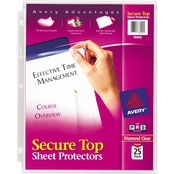 Avery Letter Size Secure Top Super Heavyweight Diamond Clear Sheet Protector 25 Pk.