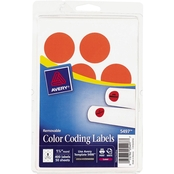 Avery 1 1/4 In. Round Removable Color-Coding Labels 400 Pk.