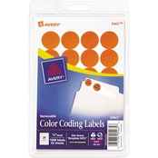 Avery 3/4 In. Round Removable Color-Coding Labels 1008 Pk.