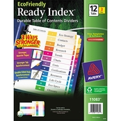 Avery Ready Index Customizable Table of Contents Multicolor Dividers