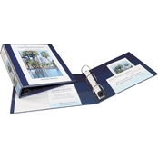 Avery Framed View Heavy-Duty Binders With Locking 1 1/2 In. EZD Rings, Blue