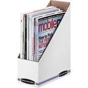 Bankers Box STOR/FILE Corrugated 4 x 9 1/4 x 11 3/4 In. Magazine Files 12 Pk.