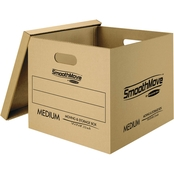 Bankers Box SmoothMove Classic Moving Boxes, 8 Small And 4 Medium