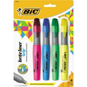 BIC Brite Liner Grip Fluorescent XL Highlighters 4 Pc. Set