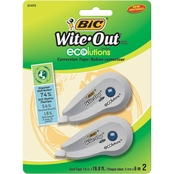 BIC Wite Out Ecolutions Mini Correction Tape, 2 Pk.