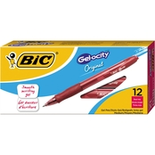 BIC Gelocity Retractable Gel Roller Ball Pen, .7mm, 12 Pk.
