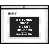 C-Line Stitched Both Sides Clear 12 x 9 in. Shop Ticket Holder 25 Pk.