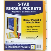 C-Line Binder Pocket with Write On Index Tabs 5 Pk.