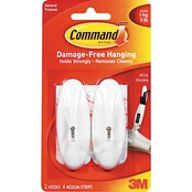 Command General Purpose Hooks 2 pk. with 4 Adhesive Strips
