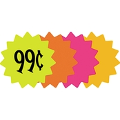 Cosco 4 in. Round Die Cut Paper Signs 60 pk.