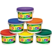 Crayola Modeling Clay & Dough Bucket, 3 lbs., Assorted, 6 Buckets Pc. Set