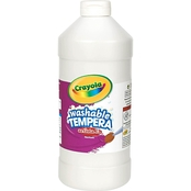 Crayola Artista II Washable Tempera Paint, White, 32 oz.