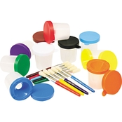 Creativity Street No Spill Paint Cups and Brushes Pack
