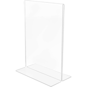 deflecto Stand-Up Double-Sided Sign Holder, 5 x 7 in.