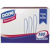Dixie Plastic Cutlery Heavyweight Knives 100 Pk.