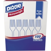 Dixie Plastic Cutlery Heavyweight Forks 100 Pk.