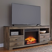 Ashley Trinell TV Stand with Fireplace Insert