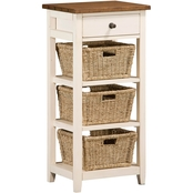 Hillsdale Tuscan Retreat Open Sided Stand with 3 Baskets and 1 Drawer