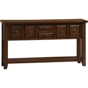 Hillsdale Tuscan Retreat 6 Drawer Hall Table