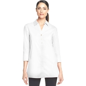 Foxcroft Pamela Solid Stretch Pinpoint Tunic