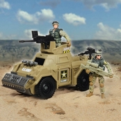 Excite U.S. Army Green Vehicle Playset
