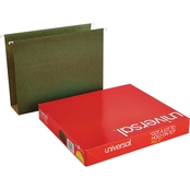 Universal 3 in. Box Bottom Pressboard Standard Green Hanging Folders 25 Pk.