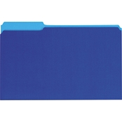 Universal Recycled Interior File Folders, 1/3 Cut Top Tab, Legal, Blue, 100 Bx.