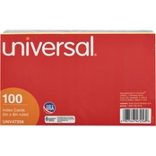 Universal 5 x 8 In. Index Card 100 Pk.