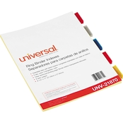 Universal Economical Insertable Index, Multicolor, 5 Tab, Letter, Buff, 6 Sets Pk.