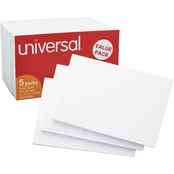 Universal 3 x 5 in. White Unruled Index Cards 500 Pk.