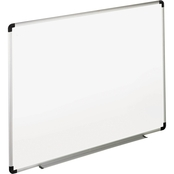 Universal Deluxe Melamine Dry Erase Board with Aluminum Frame