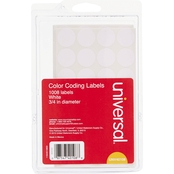 Universal Self Adhesive Removable Color Coding Labels 1008 pk.